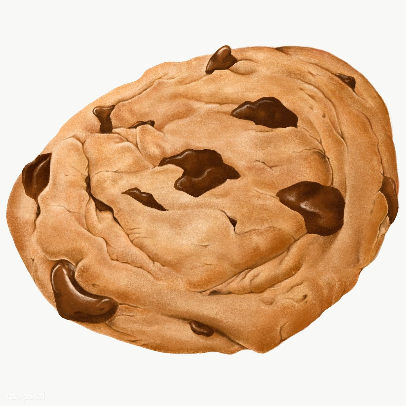 Hand Drawn Chocolate Chip Cookie Transparent Png Free Image By Rawpixel Com Noon Seni