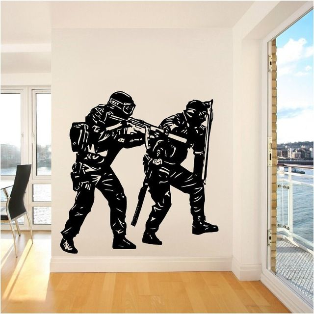 Room Home Living Art PVC Decoration Wall Sticker Two Unique