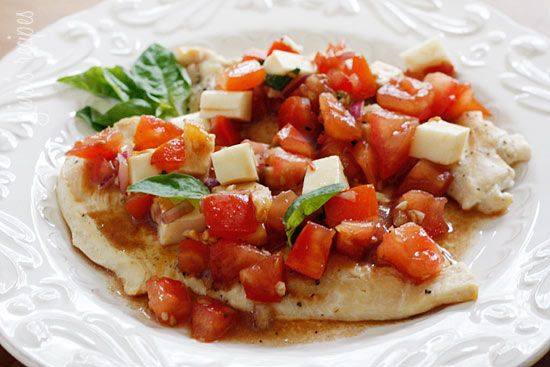 Grilled Chicken Bruschetta - turn plain chicken into a delicious weeknight meal in minutes with this recipe!