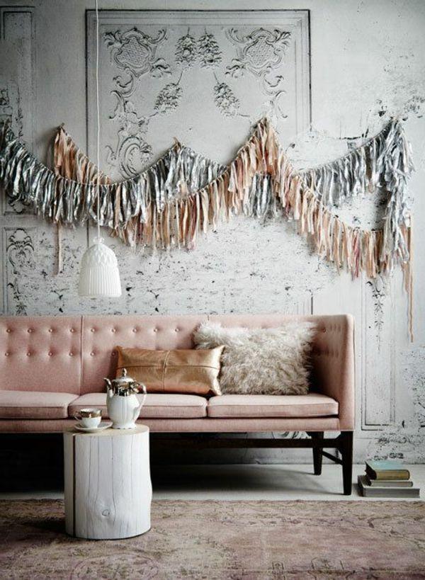 samt tapete und samt mbel auffllige wandgestaltung - Wandgestaltung Mit Tapeten