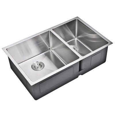 Dcor Design 33 L X 20 W Double Basin Undermount Kitchen Sink