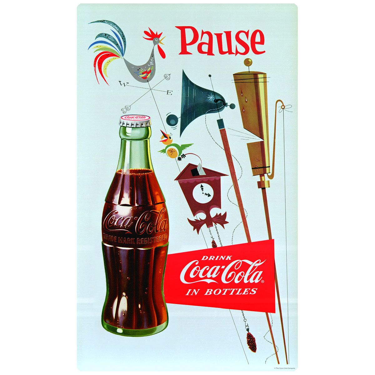 Cocacola pause country weathervane wall decal coke stickers