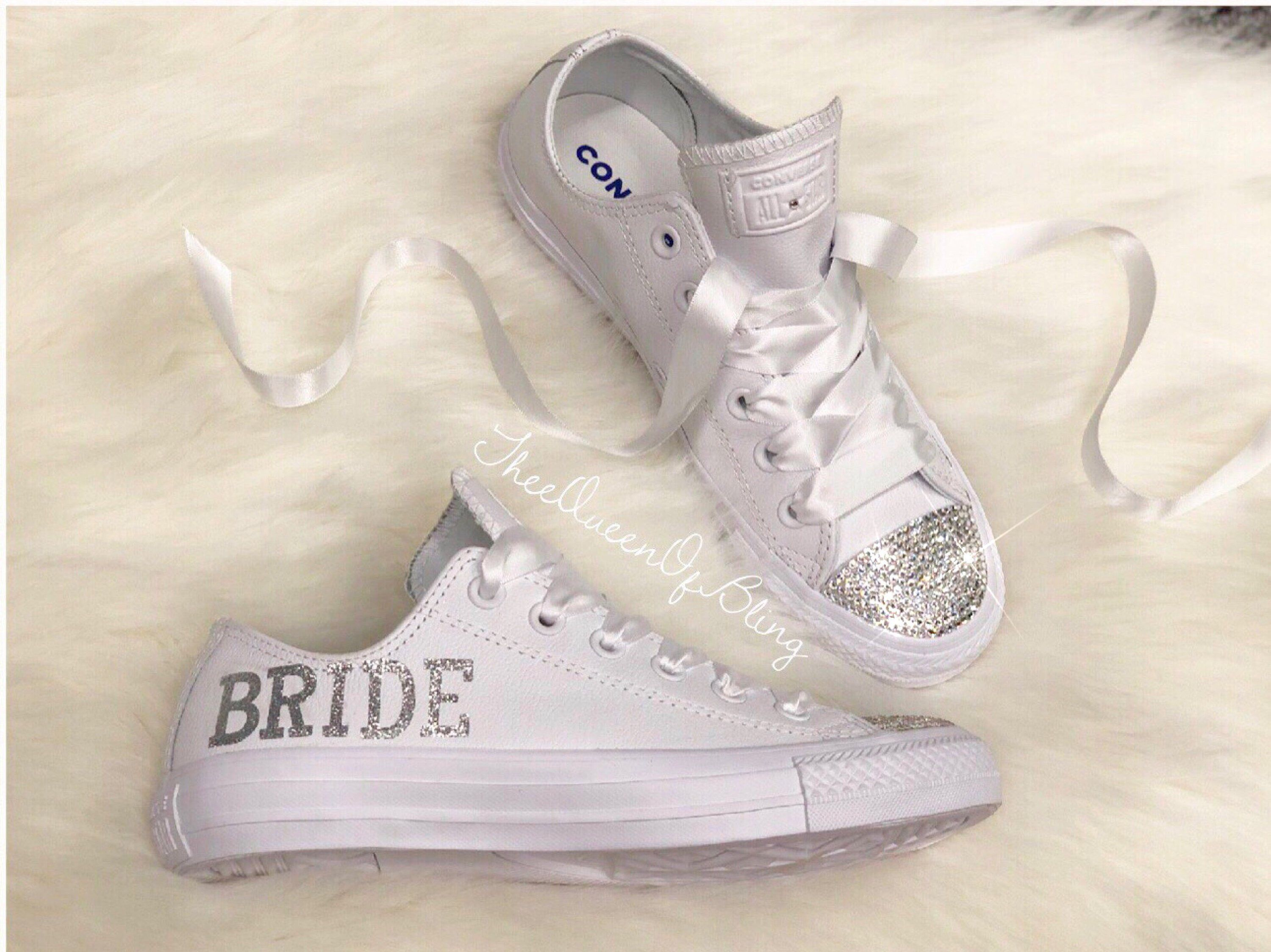 e70bddf8d287 Excited to share this item from my  etsy shop  wedding Converse with ...
