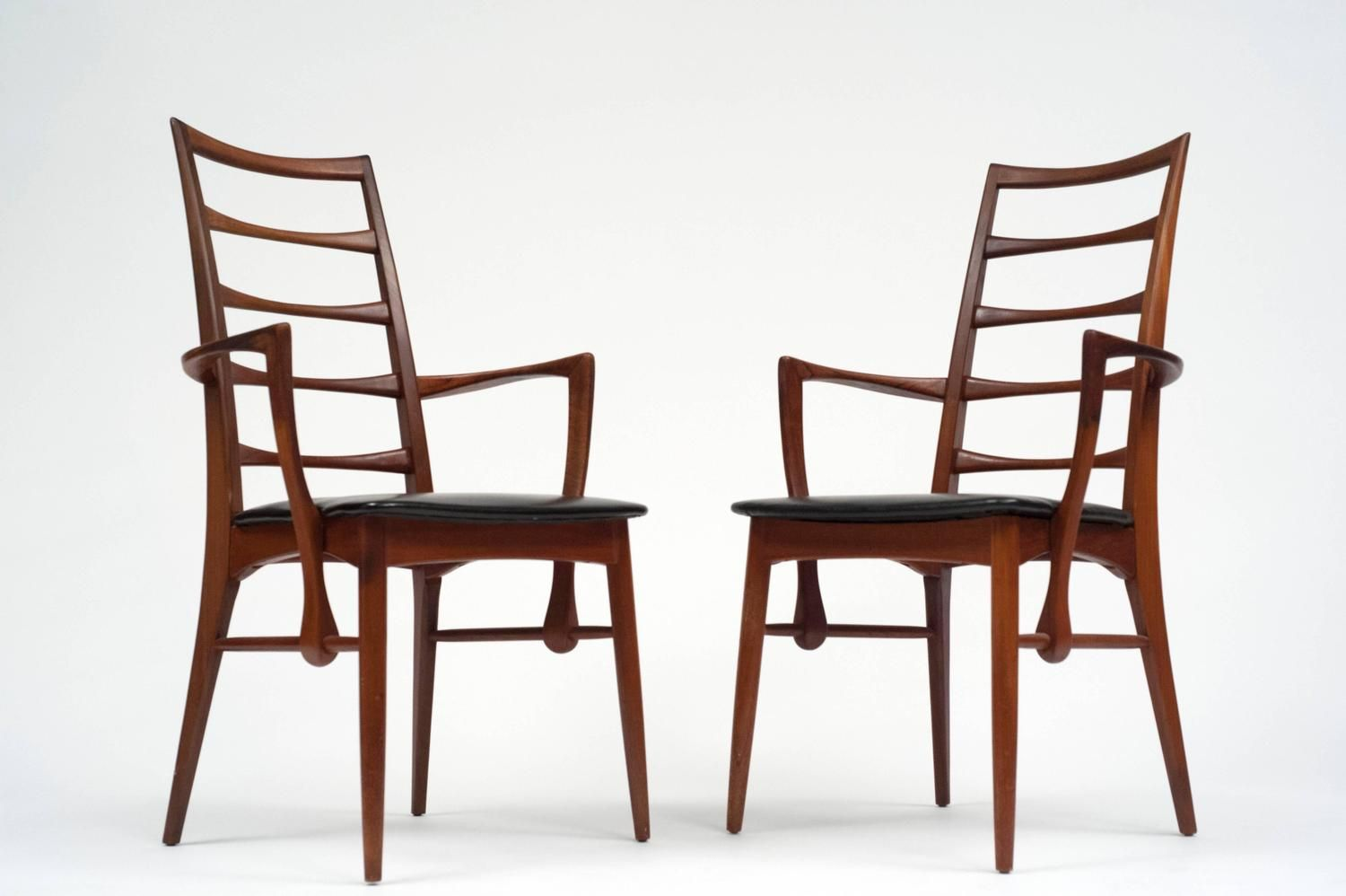 Set Of Eight Danish Ladder Back Dining Chairs By Niels Kofoed