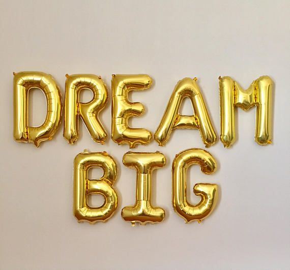 dream big gold letter balloons dream big bannergraduation
