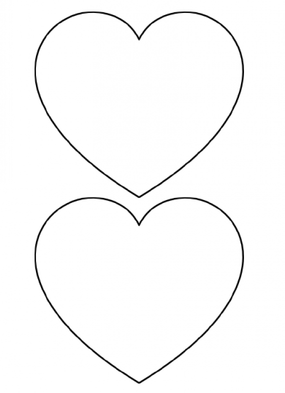 picture regarding Printable Heart Templates identified as Free of charge Printable Center Templates High Medium Minimal Stencils