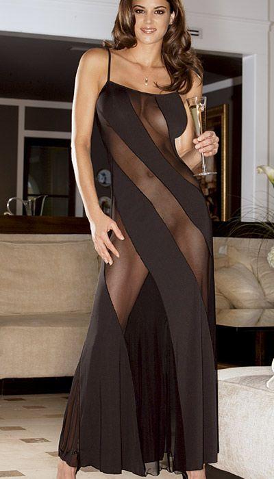 China hot sale summer night dress sexy woman black fashion sleepwear