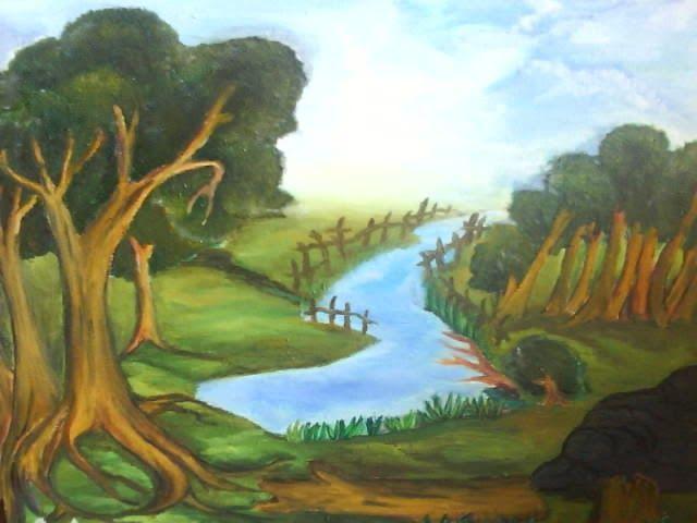Contoh Lukisan Hubungan Manusia Dengan Alam Sekitar Yang Mudah Cikimm Com