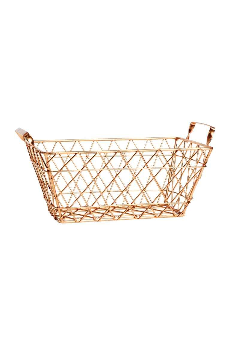 Large metal wire basket: Large metal wire basket with a handle on ...