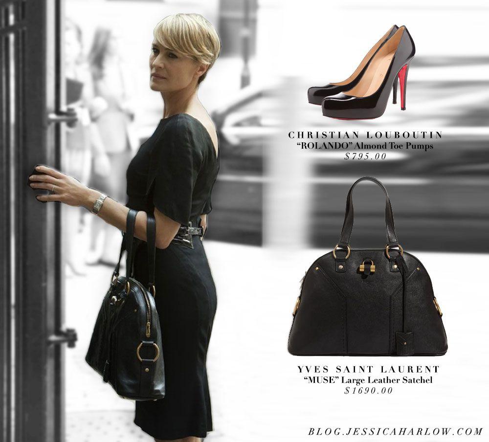 claire underwood house of cards bag ysl handbag purse shoes