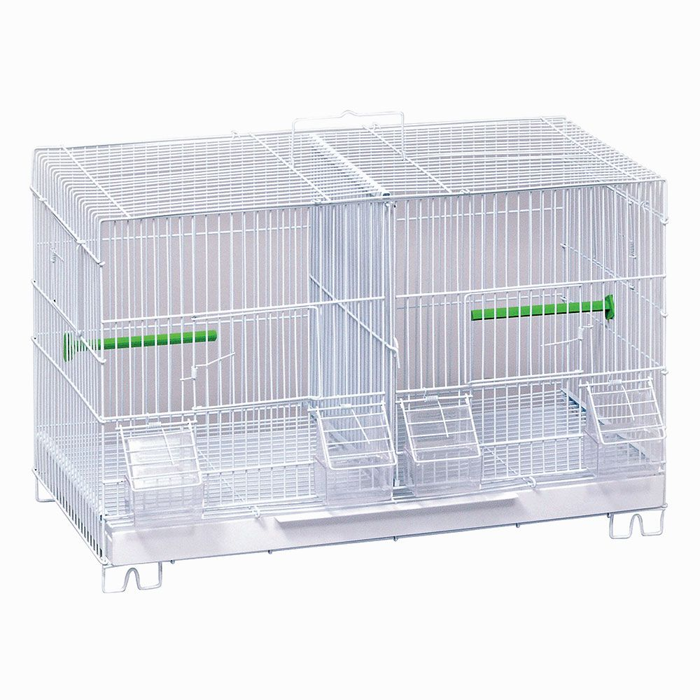 Stack & Lock Double Breeder Pet Bird Cage, Small Bird Cages for ...