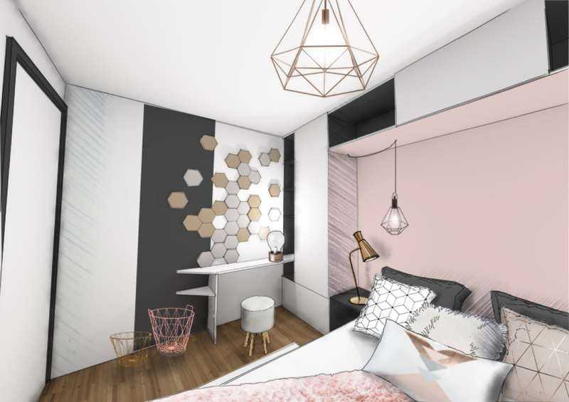 chambre rose poudrée | appart ma chambre | Pinterest | Chambres ...
