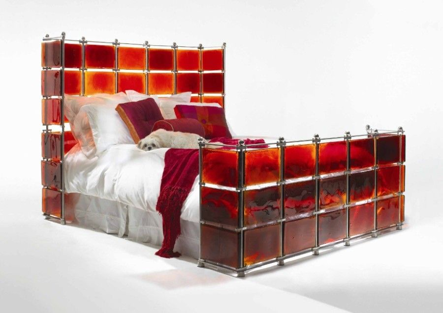 This Very Unique And Funky Platform Bed Is Hand Crafted