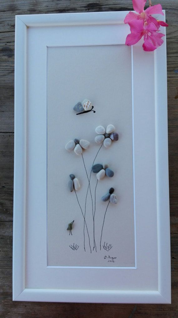 Pebble Art Flowers Big New Flowers Gift Big Wall Hanging Home Decor Flowers Unique Gift Birhtday Gifts Pebble Art Flower Art Flower Gift