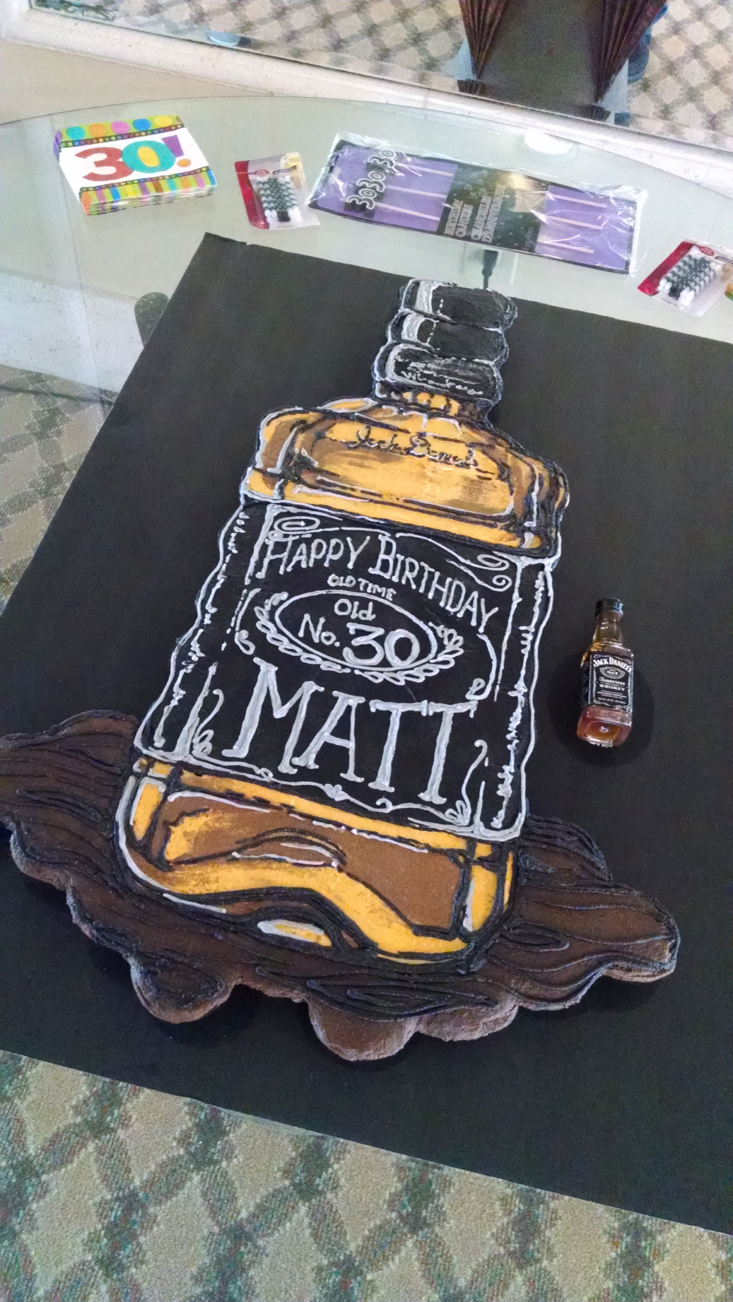 Jack Daniels Inspired Dirty 30 Birthday Cake Birthday