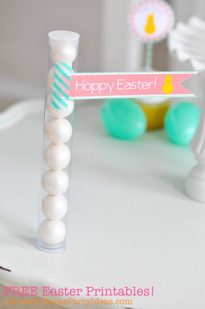FREE Easter Party Printable Tags + Cupcake Toppers via Karas Party Ideas KarasPartyIdeas.com-6
