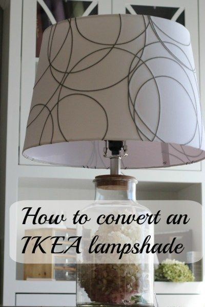 Making an IKEA lampshade fit a normal lamp. | Lamp shades