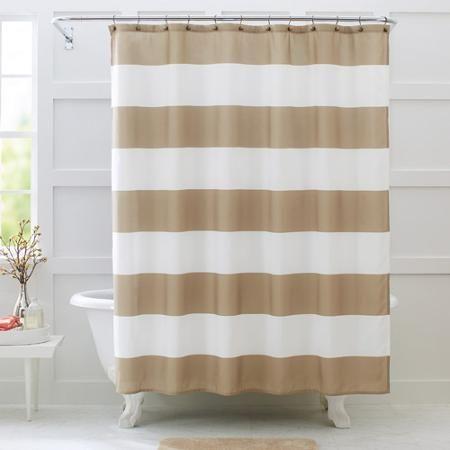 Better Homes And Gardens Porter Stripe Fabric Shower Curtain   Walmart.com