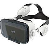 """Crypto VR 150 Virtuelle Realität 3D Brillen mit Verstellbare Träger Linsen und Stereo-Kopfhörer 120 Grad Sichtfeld für iPhone SE/7/7 Plus/6S Plus/6S/6/5S/5C/5, Samsung Galaxy S5/S6/S6 Edge/S7/S7 Edge, Note 4/5, LG, HTC, Moto, Nexus, Sony und andere 4,7 """"bis 6,"""