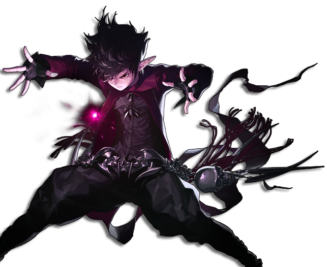 Male Mage Elemental Bomber Portrait Guerreiro anime