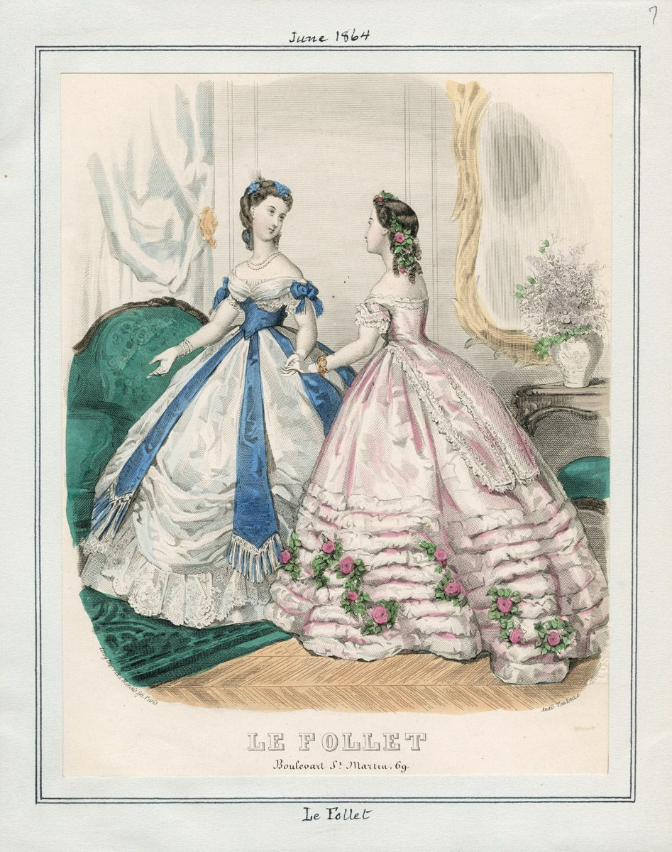 Casey Fashion Plates Detail | Los Angeles Public Library: Le Follet Date:  Wednesday, June 1, 1864