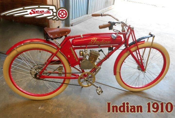 Indian 1910 Modelo De Lujo Motocicletas