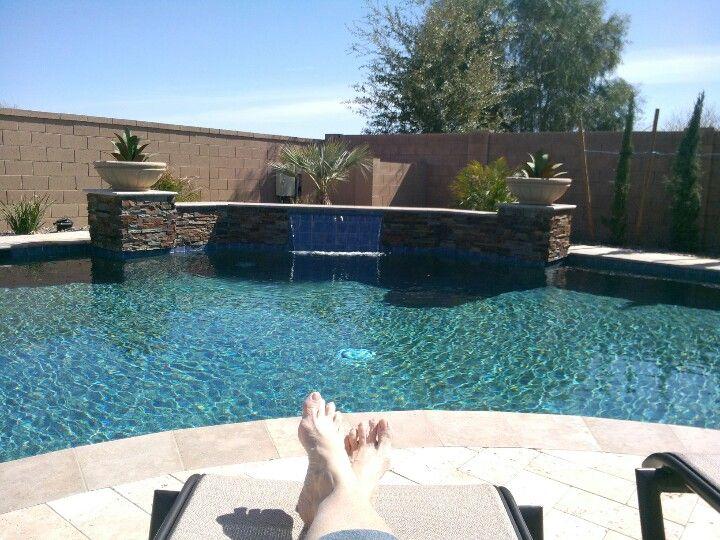 Chilaxing in backyard