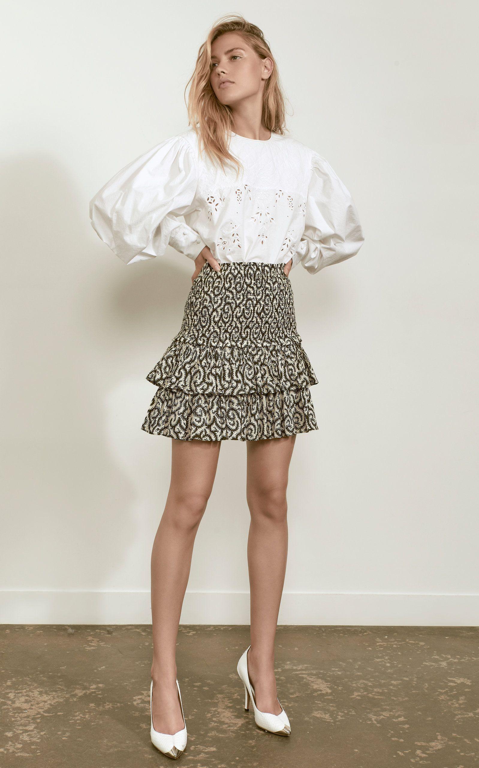 09cc6b9cc4 Wona Embroidered Cotton-Poplin Top by ISABEL MARANT ÉTOILE Now Available on  Moda Operandi