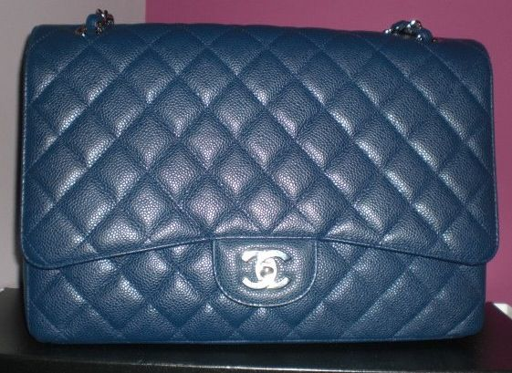 825e466c60b01b Chanel Blue Fonce Classic Flap Maxi Bag 2009   Chanel ❤   Chanel ...