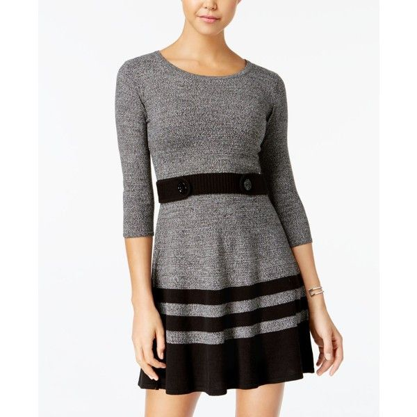 aee196b8073 Bcx Juniors  Marled Stripe Sweater Dress ( 59) ❤ liked on Polyvore  featuring dresses