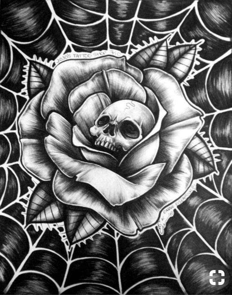 Love Can Leave Your Hear In A Web Of Deception At A Co D Ay2l7su Skulls Drawing Roses Drawing Cross Paintings