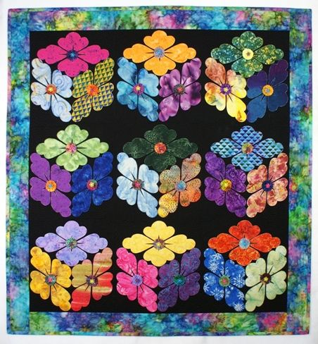 Flowerboxes Details By Diane Quilts Flower Quilt Patterns Flower Quilts