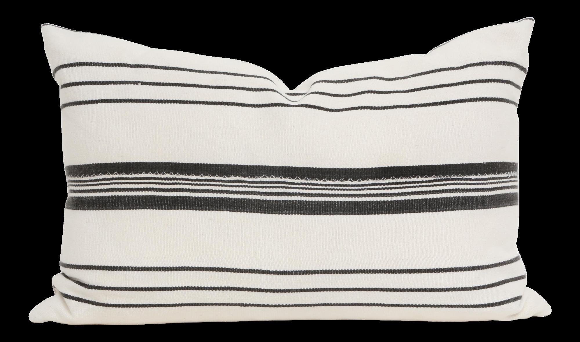 Vintage African Mudcloth Pillow Striped Lumbar Black White Striped 19x13 African Mudcloth Pillow African Mud Cloth Mudcloth Pillow