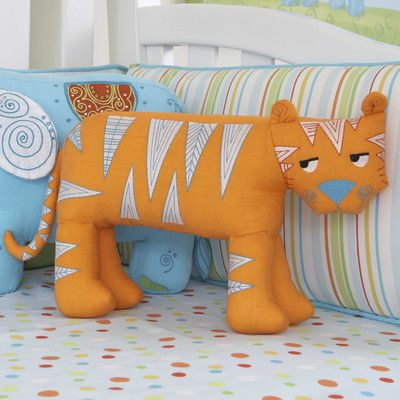The Little Acorn Funny Friends Tooth Fairy Tiger Pillow | AllModern This will go great with my tiger theme!