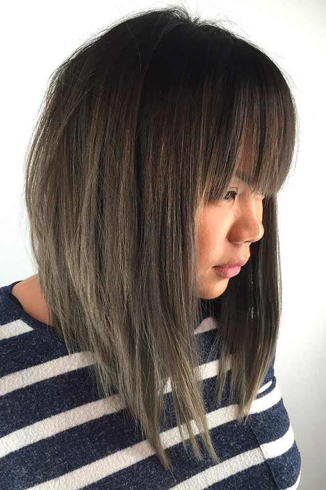 28+ Shoulder length layered bob with fringe trends
