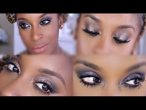 ▶ Urban Decay Naked Smoky Palette 4 LOOKS! + Review   Jackie Aina - YouTube