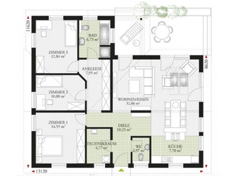 Perfect 111 Haus grundriss, Winkelbungalow grundriss und