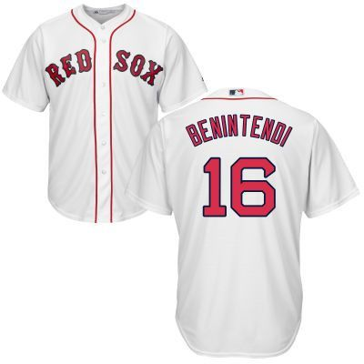 3e3bf8e0077bf ... home cool base player jersey; andrew benintendi boston red sox mens  white majestic jersey