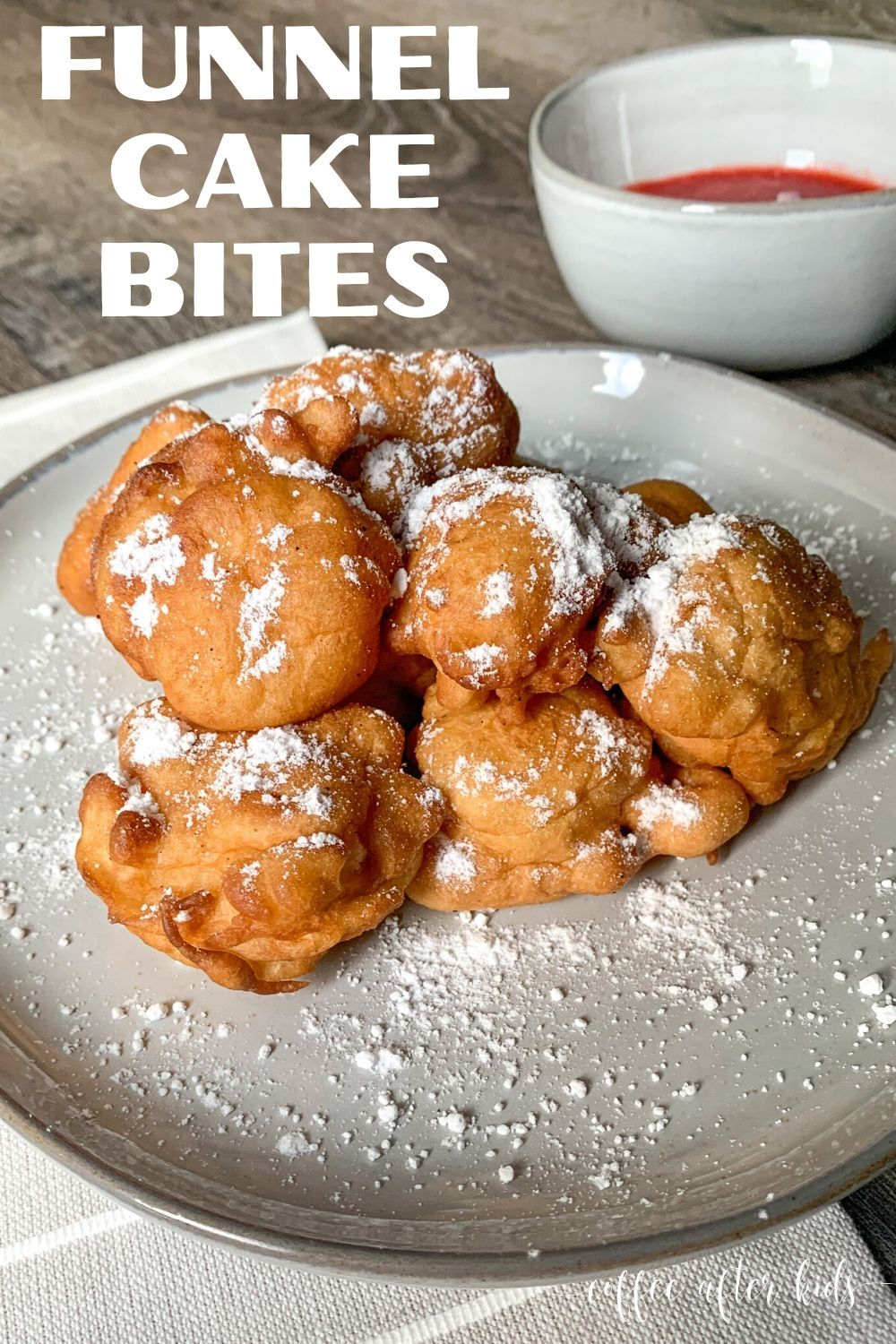Funnel cake bites coffee after kids recipe in 2020