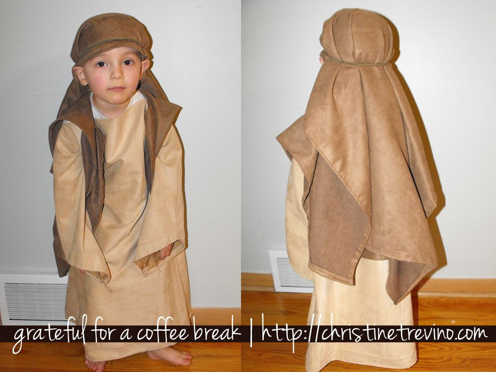Shepherds headwear from pillowcase tutorial for nativity costume easy diy nativity costumes w sleeves elijahs been running around the house with an arm rest cover on his head pretending to be joseph since sunday solutioingenieria Choice Image