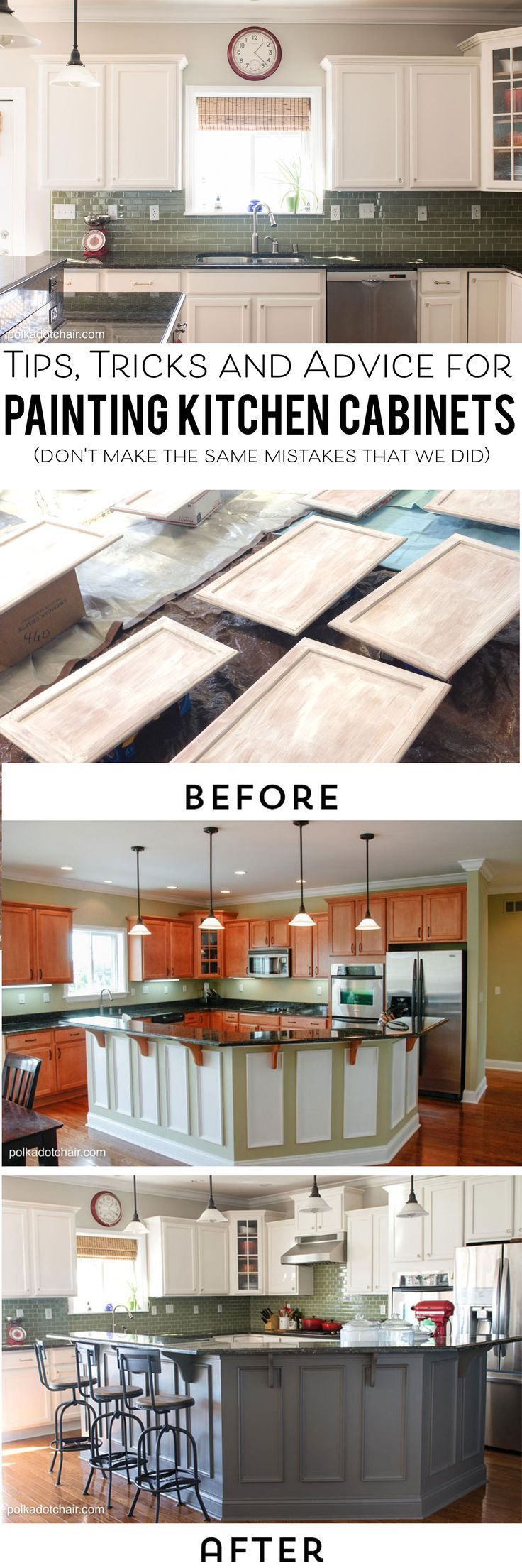 Ideas : Tips and Tricks and what NOT to do when painting your kitchen cabinets