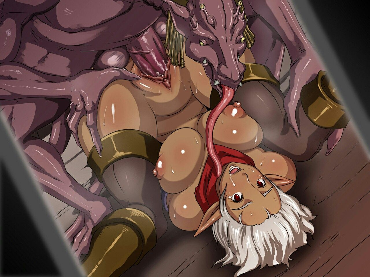 She fucking Hentai dark elf her big