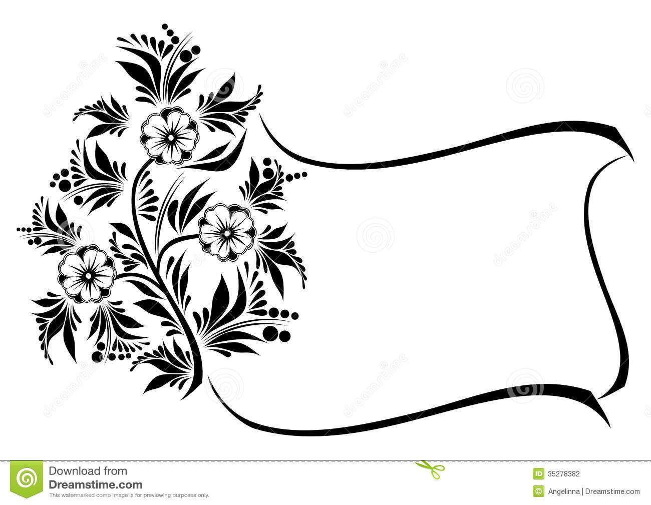 swirl floral vector frame foto hledat googlem web pinterest