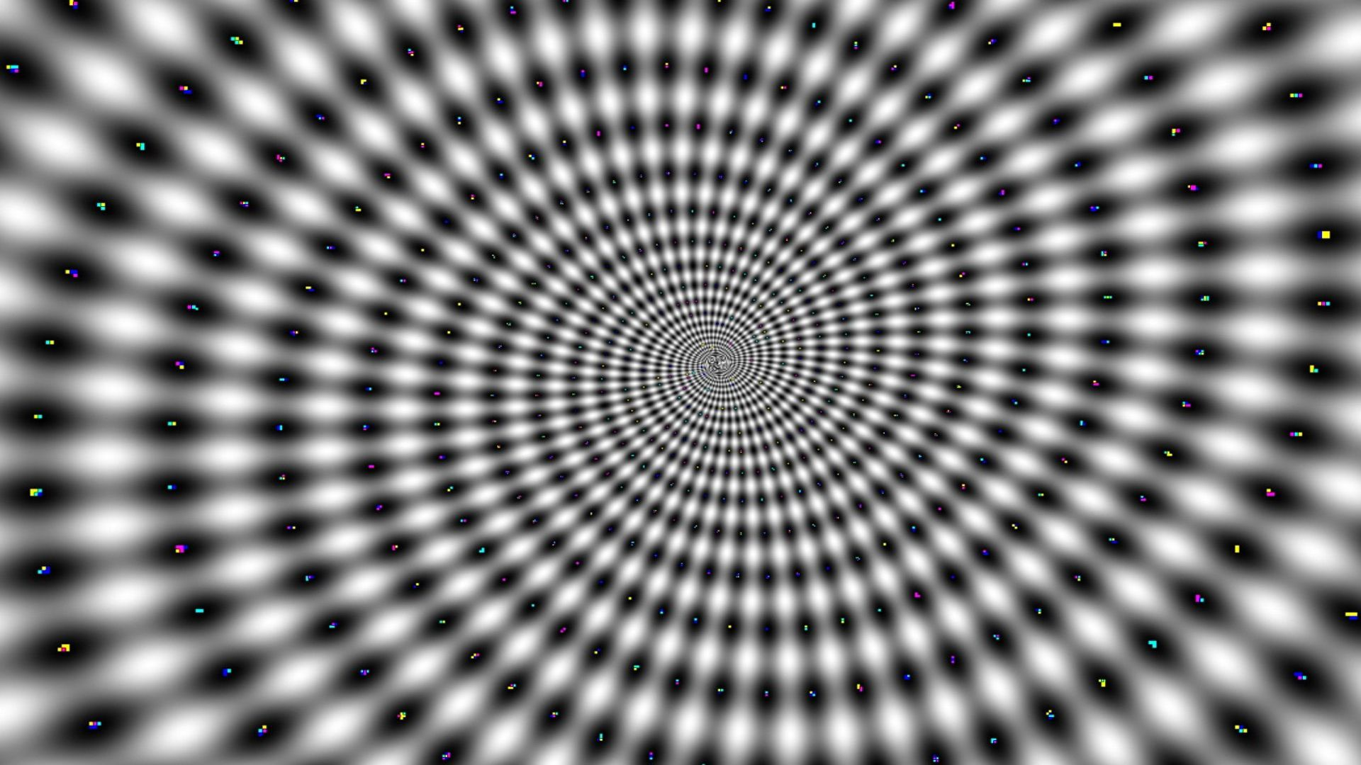 It hurts my eyes optical illusion swirl in various colors