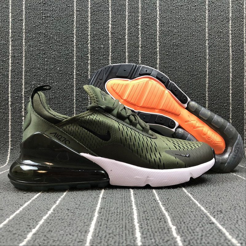 c28eb75c8fd Adaptable Nike Air Max 270 Retro Green   Black-White White Men s Casual  shoes Sneaker AH8050-300