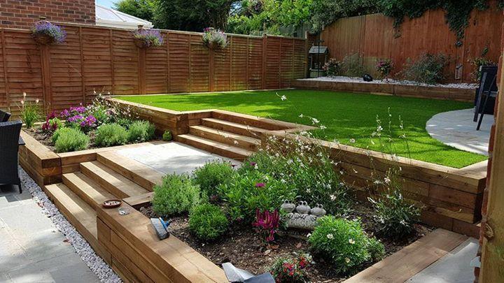 Untitled Backyard Landscaping Designs Sloped Garden Patio Garden Design
