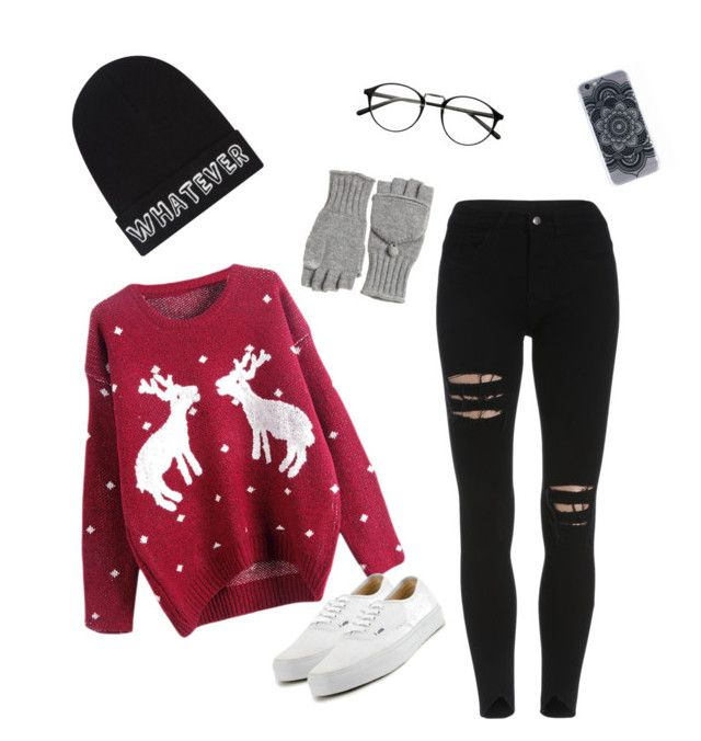"""Merry Christmas Bitches!"" by teddybearx ❤ liked on Polyvore featuring beauty, Vans, Local Heroes and Calypso St. Barth"