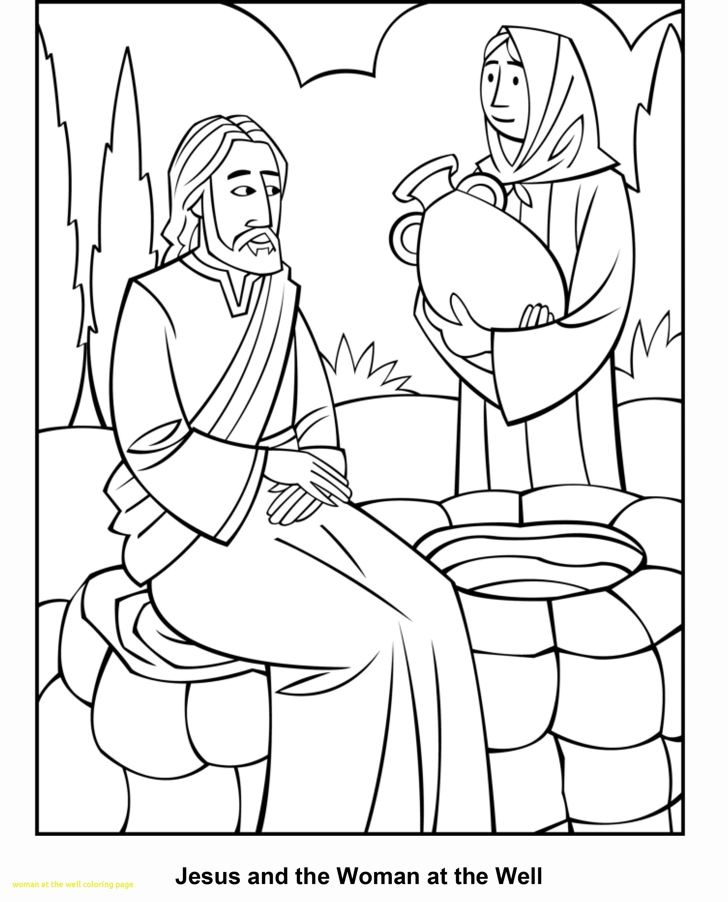 Challenge Woman At The Well Coloring Page Free Elegant 12805