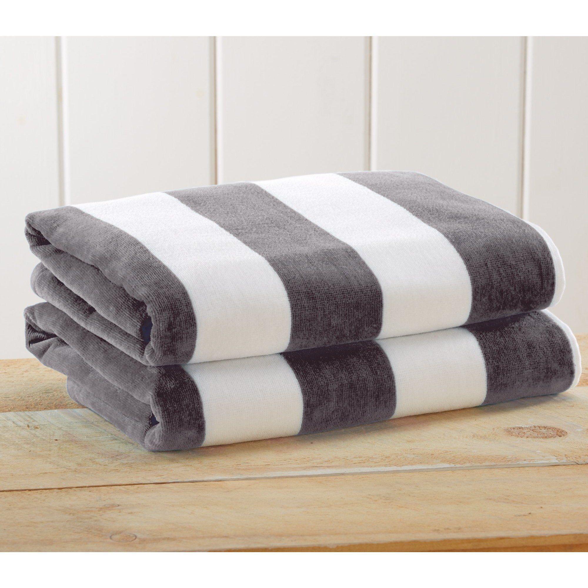 Cabana Stripe Velour Beach Towels Towel Cabana Beach Towel