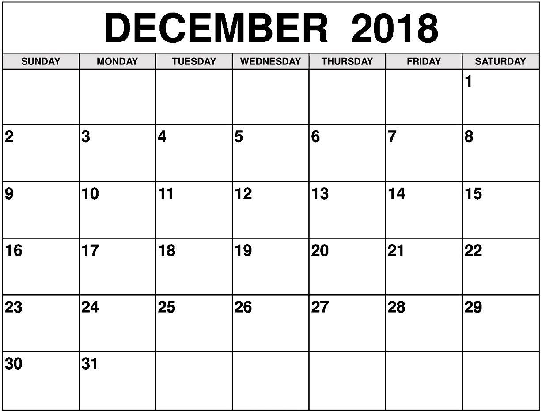 Calendar December 2018 To January 2019 November Calendar Calendar Printables 2018 Calendar Template
